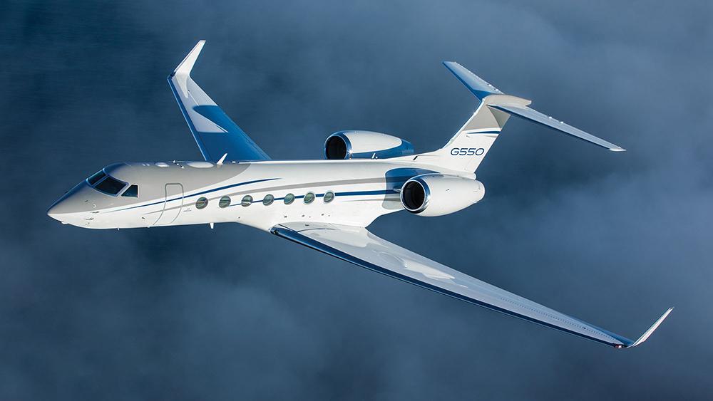 Gulfstream G550 Flying In The Sky